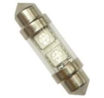 Autožiarovka 12V C5W LED sufit SV10x36 číra AUTOLAMP, sada 2ks