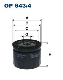 FILTRON filter olejový OP 643/4